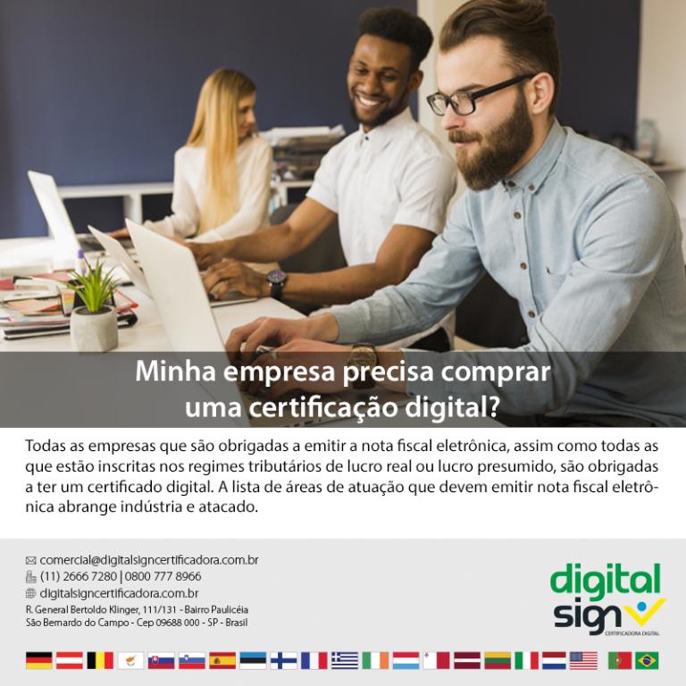 Minha empresa precisa de comprar uma certificação digital?